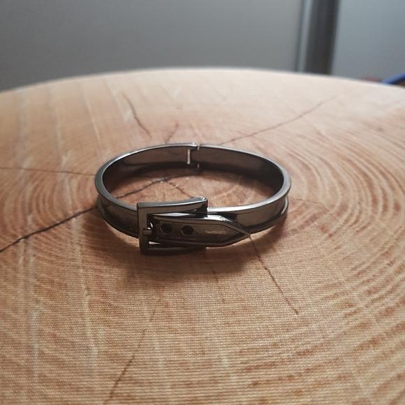 Guess Jewelry - 3/$30 Gun metal hinged belt bangle